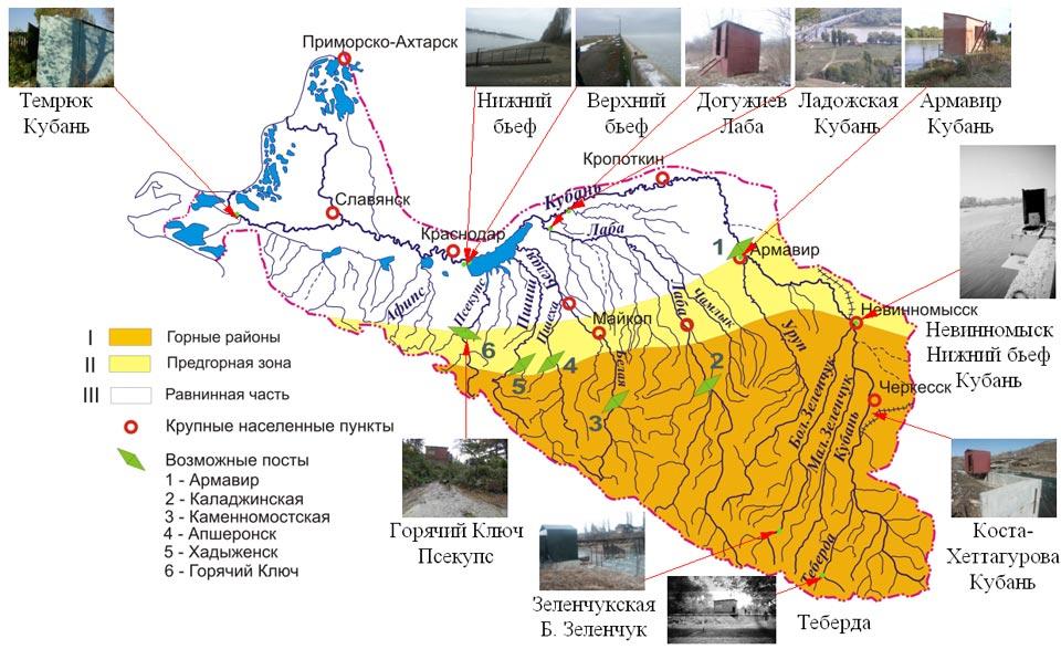 в бассейне реки Кубань